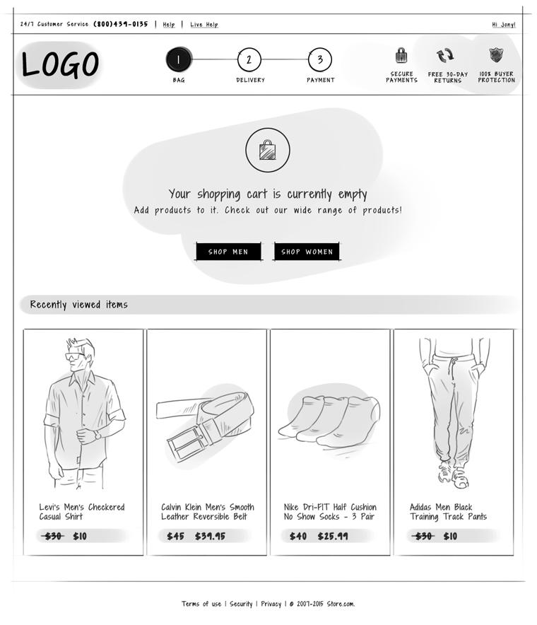 Empty Shopping cart design