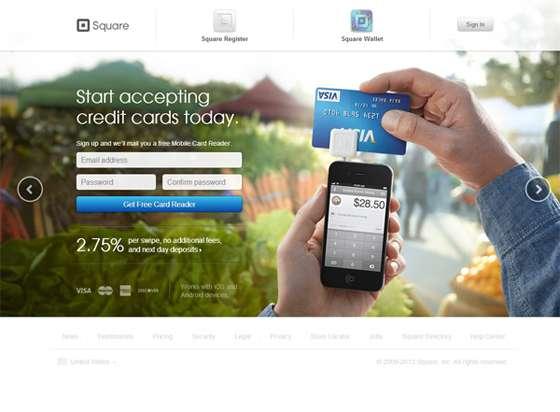 Square App landing page